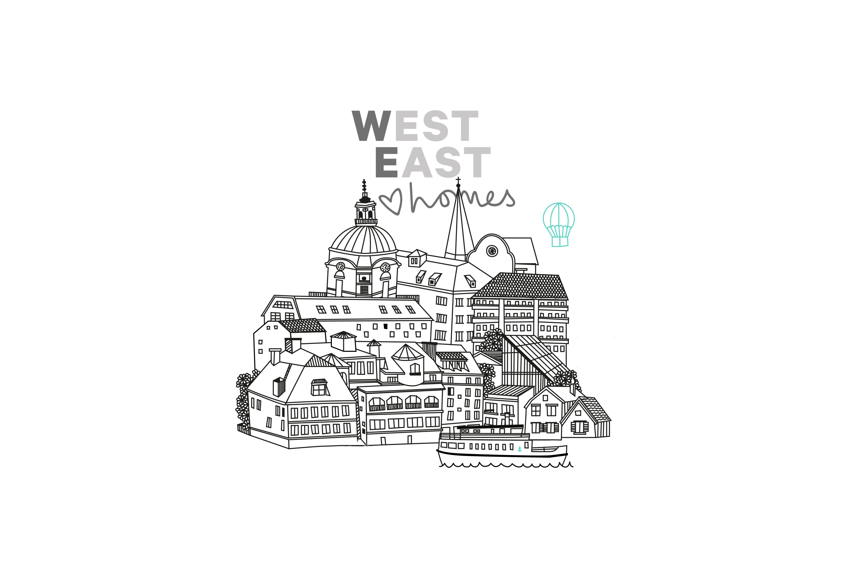 West East logo